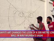 Watch: Navi Mumbai artists paint a 'dream wall', locals get a selfie spot