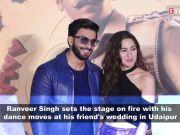 Watch: Ranveer Singh dances crazily at his friend's wedding in Udaipur