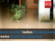 Watch: Streets submerged as Bhubaneswar receives heavy rain
