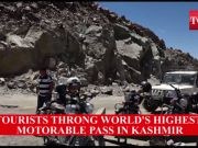 Watch: Tourists enjoy at the world's highest motorable pass in Kashmir