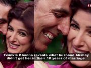 Wife Twinkle Khanna makes public what Akshay Kumar didn't get her on their wedding anniversary