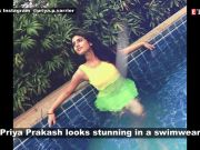 'Wink girl' Priya Prakash Varrier flaunts a new avatar in neon green swimsuit