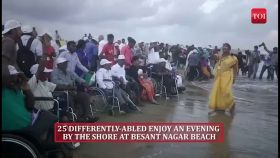 A red carpet for the differently-abled at Chennai beach