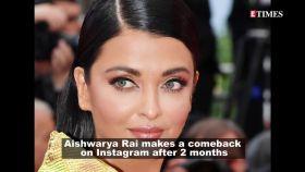 Aishwarya Rai Bachchan returns to Instagram after 2 months, posts husband Abhishek Bachchan's photos