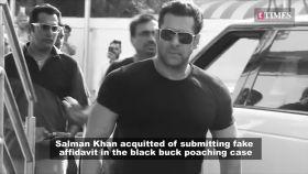 Blackbuck poaching case: Jodhpur Court acquits Salman Khan for submitting fake affidavit