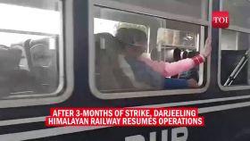 Darjeeling toy train resumes service after months of strike