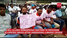 Delhi: Hundreds of homeopathic doctors rally in support of National Medical Commission Bill