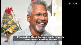 Filmmaker Mani Ratnam suffers cardiac issues, back to work now