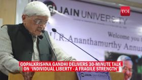 Individual liberty is under threat, says Gopalkrishna Gandhi