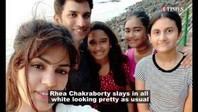 Rhea Chakraborty looks chic in all white monsoon look
