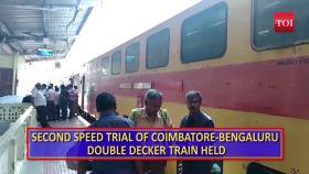 Second speed trial of Coimbatore-Bengaluru double decker train held