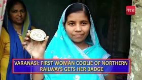 This woman has scripted history by becoming the first woman coolie in Northern Railway zone