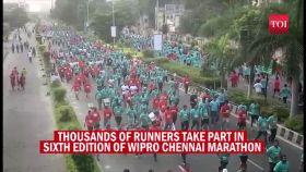 Thousands take part in Wipro Chennai Marathon