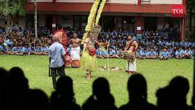 Watch: Thirayattam performance leaves students, teachers spellbound