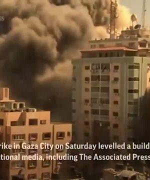 Watch: Israeli airstrike