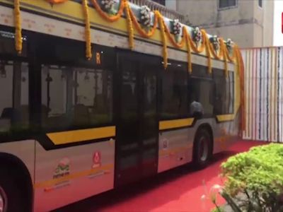 25 hybrid electric AC buses launched in Mumbai