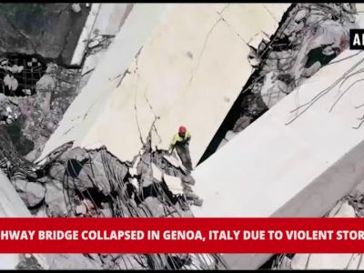 35 people killed in Genoa bridge collapse after a violent storm in Italy