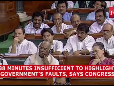 38 minutes insufficient to highlight faults of Narendra Modi govt: Congress