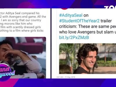 Actor Aditya Seal trolled for comparing 'Avengers: Endgame' to 'Student of the Year 2'