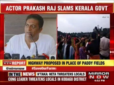 Actor Prakash Raj slams Kerala govt for suppressing farmers' protest