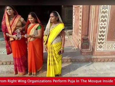 Agra: Women activists enter mosque at Taj Mahal, perform puja