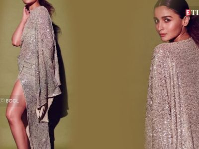 Alia Bhatt looks ravishing in a thigh-high shimmery number