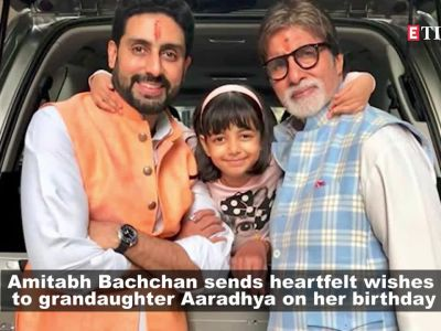Amitabh Bachchan's blessings for granddaughter Aaradhya Bachchan on her birthday