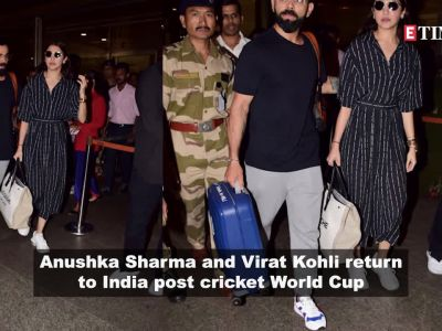 Anushka Sharma and Virat Kohli return to India post cricket World Cup