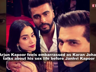 Arjun Kapoor feels embarrassed as Karan Johar talks about his sex life before Janhvi Kapoor