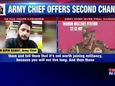 Army chief Bipin Rawat warns Kashmiri youth