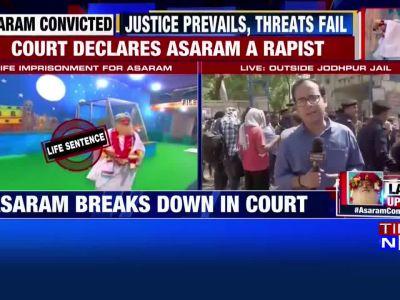 Asaram gets life sentence for raping minor girl in 2013