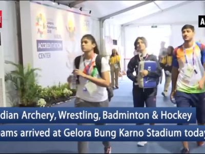 Asian Games 2018: Indian teams arrive at Gelora Bung Karno Stadium