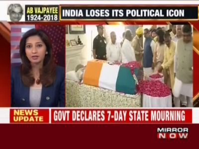 Atal Bihari Vajpayee death: 7-day state mourning announced