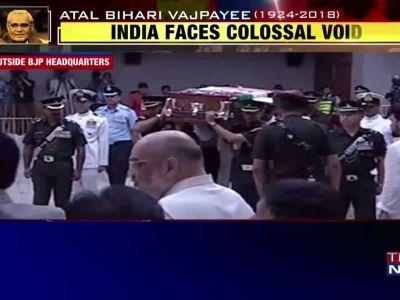Atal Bihari Vajpayee's funeral procession begins for Smriti Sthal