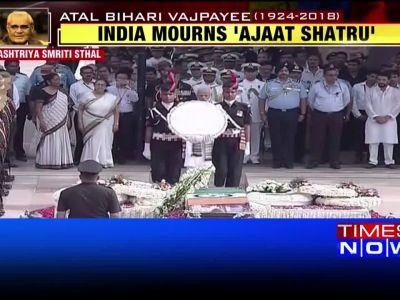 Atal Bihari Vajpayee's last journey: PM Narendra Modi pays floral tribute at Smriti Sthal
