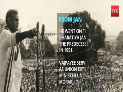 Atal Bihari Vajpayee: The journey of a political icon