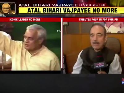 Atal Bihari Vajpayee will always be respected: Ghulam Nabi Azad