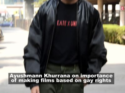 Ayushmann Khurrana feels it's important to make commercial films based on gay rights
