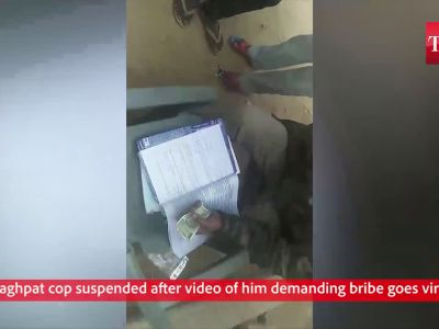 Baghpat cop suspended after video of him demanding bribe goes viral