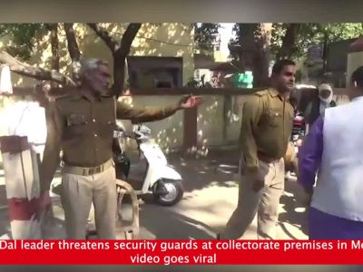Bajrang Dal leader threatens security guards at collectorate premises in Meerut, video goes viral