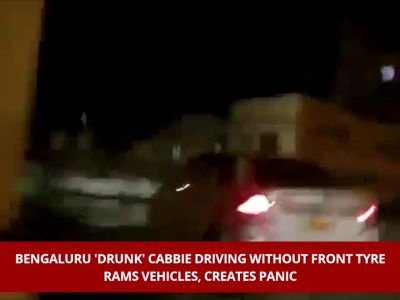 Bengaluru 'drunk' cabbie driving without front tyre rams vehicles, creates panic