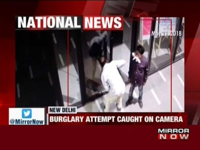 Burglary attempt in Delhi's Connaught Place area caught on cam