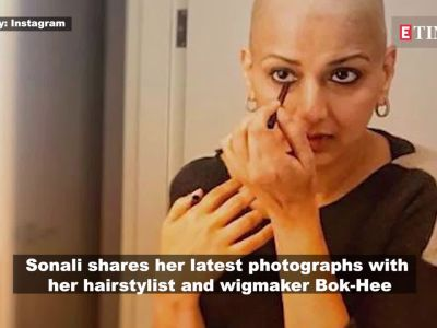 Cancer fighter Sonali Bendre shares an emotional note thanking her hairstylist