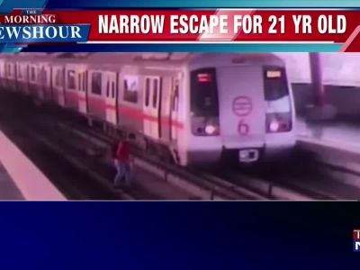Caught on cam: 21-year-old man crosses tracks at Delhi Metro station