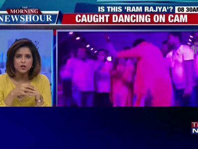 Caught on cam: Fever kills more than 60 kids in her city, Bahraich MLA dances her heart out at a Ganesh puja pandal