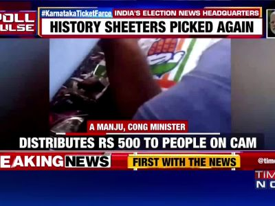 Caught on camera: Congress, BJP leaders distribute cash to voters in Karnataka