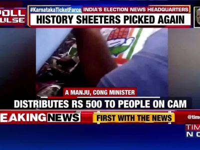 Caught on camera: Congress, BJP leaders distribute cash to voters in Karnataka