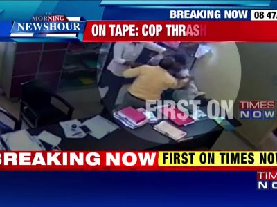 Caught on camera: Cop thrashes his senior in Chhattisgarh