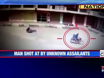 Caught on camera: Man shot at by unknown assailants