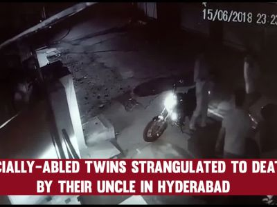 Caught on CCTV: Specially-abled twins killed by uncle in Hyderabad
